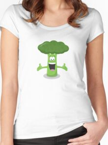 Broccoli Man Women's Fitted Scoop T-Shirt