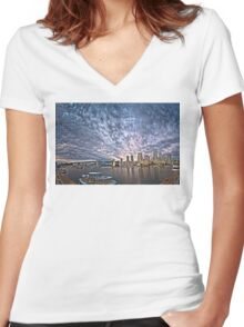 Searching for Tomorrow (HDR double pano) Women's Fitted V-Neck T-Shirt