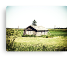 Old Leaning Shack Canvas Print
