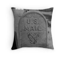 Waiting for the Mail Throw Pillow