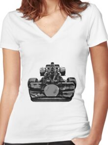 Just Drive Women's Fitted V-Neck T-Shirt