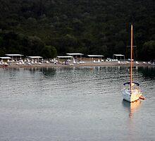 Small Yacht- Sivota, Greece by emmahumphrey