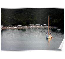 Small Yacht- Sivota, Greece Poster