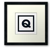"""Alphabet """"Q"""" Framed Print"""
