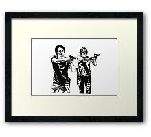 Glenn & Maggie Walking Dead Framed Print