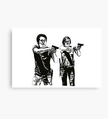 Glenn & Maggie Walking Dead Canvas Print