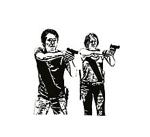 Glenn & Maggie Walking Dead Photographic Print