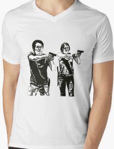 Glenn & Maggie Walking Dead Mens V-Neck T-Shirt