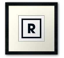 "Alphabet ""R"" Framed Print"