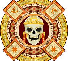 god of death of Aztecs by nikolaich