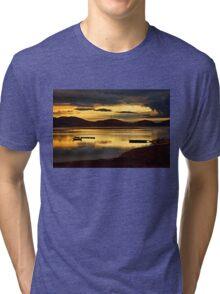 Sunrise at Lake Plastiras Tri-blend T-Shirt
