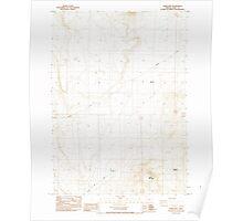 USGS Topo Map Oregon Horse Mtn 280242 1984 24000 Poster