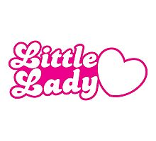 Little lady with cute little heart Photographic Print