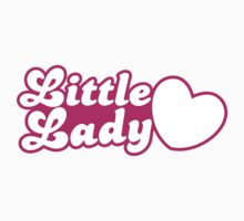 Little lady with cute little heart Kids Tee