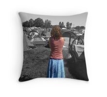 In Tent City Throw Pillow