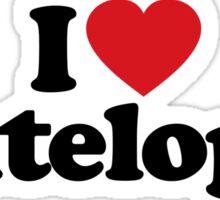 I Love Heart Antelopes Sticker Sticker