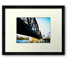 Old Train Bridge Framed Print