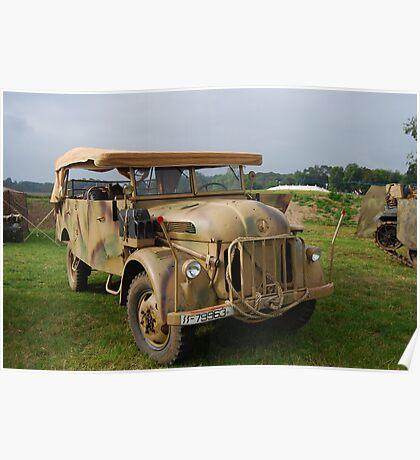 German Truck Poster