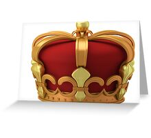 Gold imperial crown Greeting Card