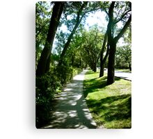 A Walk Down Wellington Cresent Canvas Print