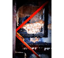 charred frame on wall Photographic Print