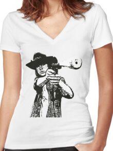 Carl Grimes Walking Dead Women's Fitted V-Neck T-Shirt