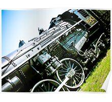 Old locomotive Steam Train 01 Poster