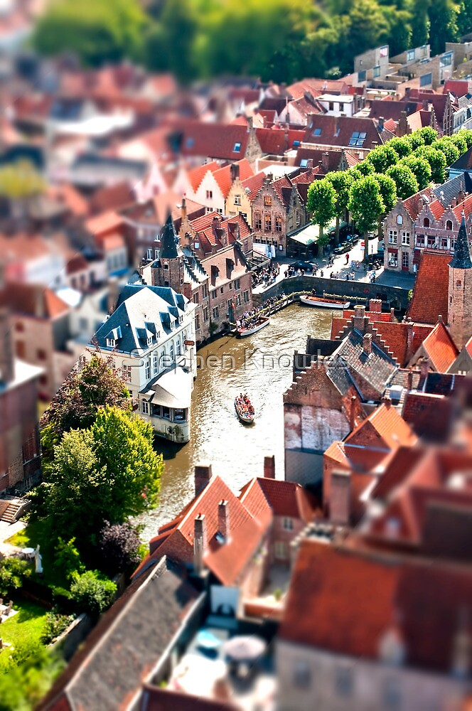 Bruges (tilt and shift) by Stephen Knowles