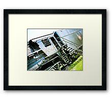 Old locomotive Steam Train 02 Framed Print