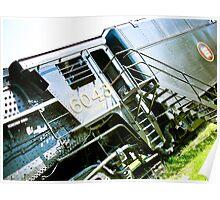 Old locomotive Steam Train 02 Poster