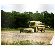Old Yellow Combine 01 Poster