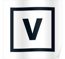 "Alphabet ""V"" Poster"
