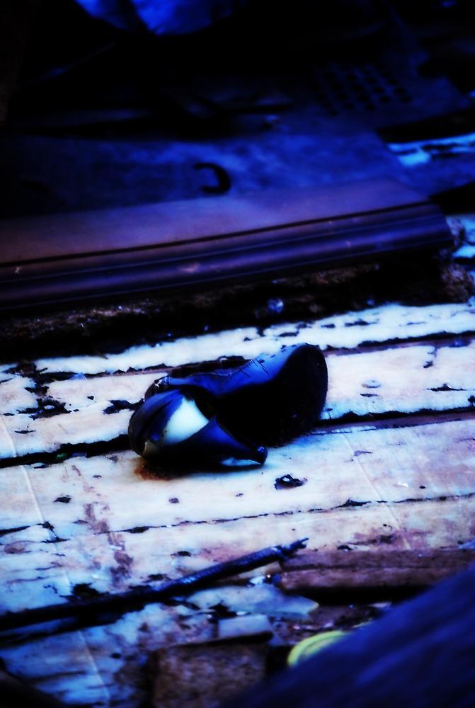 blue shoe by nessbloo