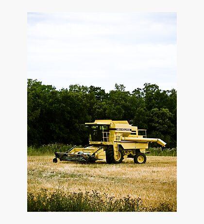 Old Yellow Combine 02 Photographic Print