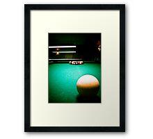 A Game of Pool 01 Framed Print