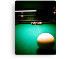 A Game of Pool 01 Canvas Print
