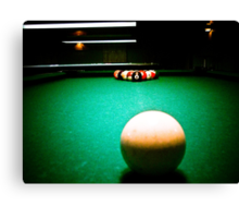 A Game of Pool 02 Canvas Print