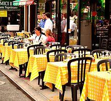Yellow Tablecloths  by DearMsWildOne