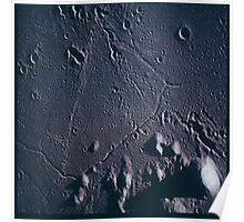 Apollo Archive 0056 Moon Craters from Orbit Poster