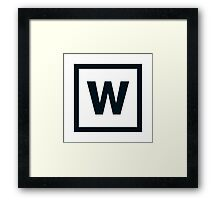 "Alphabet ""W"" Framed Print"