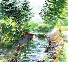 Forest Creek by Irina Sztukowski