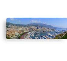 Monte Carlo Panorama Canvas Print