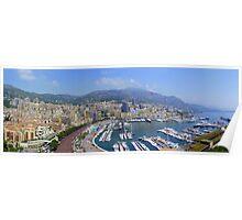 Monte Carlo Panorama Poster