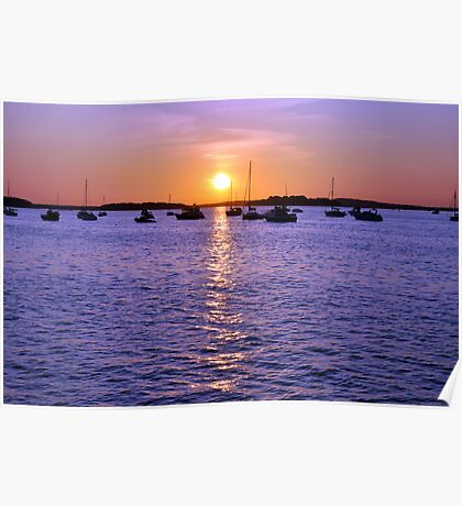 Sunset From Shell Bay Poster