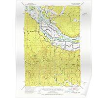 USGS Topo Map Oregon Cathlamet 282322 1953 62500 Poster