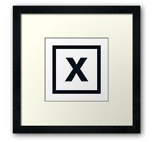 "Alphabet ""X"" Framed Print"