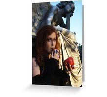 Phoenix - Cemetery Girl Greeting Card