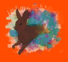 Watercolour Rabbit Kids Clothes
