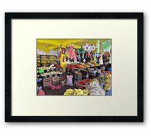Colourful mexican farmers market Framed Print