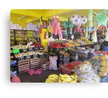 Colourful mexican farmers market Metal Print